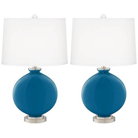 Mykonos Blue Carrie Table Lamp Set of 2