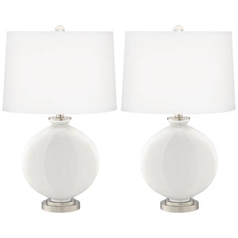 Winter White Carrie Table Lamp Set of 2