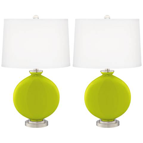 Pastel Green Carrie Table Lamp Set of 2