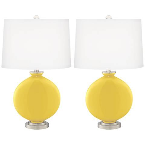 Lemon Zest Carrie Table Lamp Set of 2