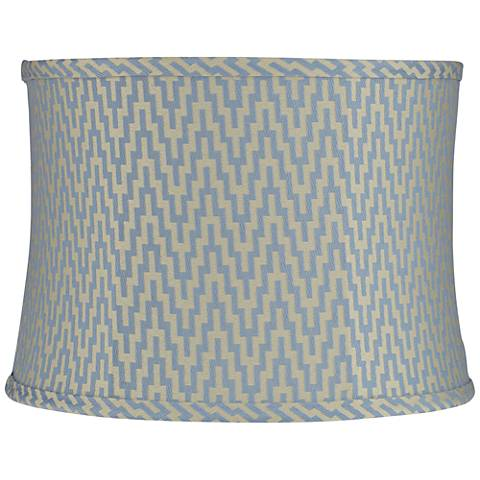 Orillia Metallic Blue Zig Zag Tribal Drum Lamp Shade (Spider)