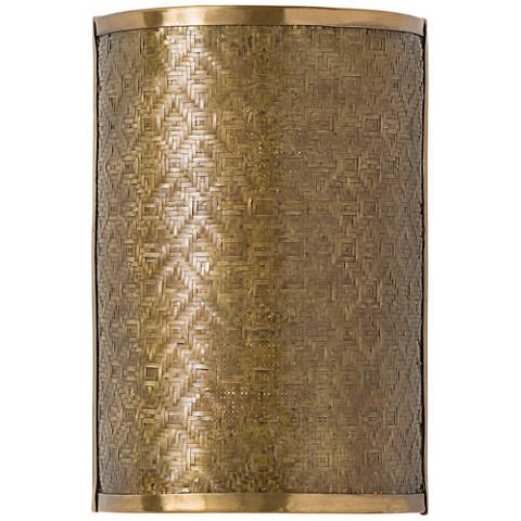 """Arteriors Home Fable 12"""" High Vintage Brass Wall Sconce"""