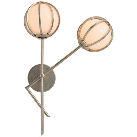 """Millenium 23"""" High Champagne Leaf Right Wall Sconce"""