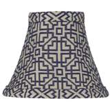 West Lake Blue Lamp Shade 3x6x5 (Clip-On)