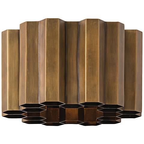 """Arteriors Home Hive 6"""" High Antique Brass Wall Sconce"""