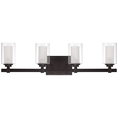 "Craftmade Celeste 26 3/4"" Wide Espresso 4-Light Bath Light"