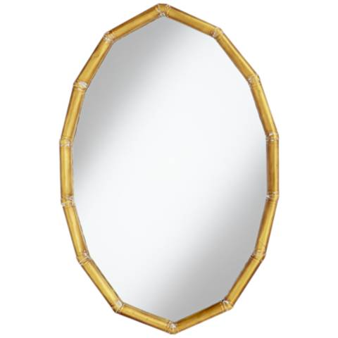 Gold segments 36 high oval wall mirror 16p90 lamps for Oval mirror canada