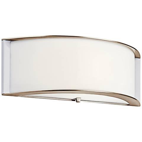 "Kichler Arcola 5 1/2"" High Polished Nickel LED Wall Sconce"