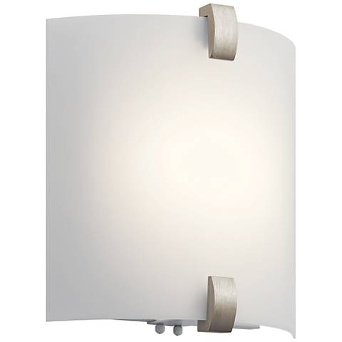 "Kichler Serafina 11 3/4"" High Brushed Nickel LED Wall Sconce"