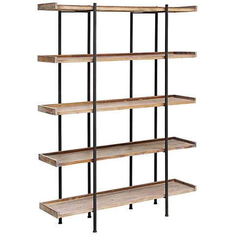 Crestview Collection Wingate Wood and Metal 4-Tier Etagere