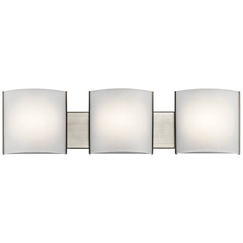"Kichler Georgian 30"" Wide Brushed Nickel 3-LED Bath Light"