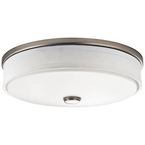 """Kichler Santiago 13"""" Wide Brushed Nickel LED Ceiling Light"""