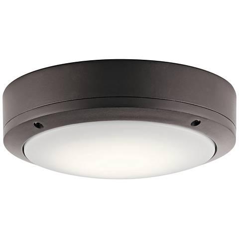 "Kichler Galveston 9"" Wide Bronze LED Outdoor Ceiling Light"