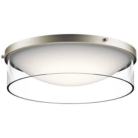"Kichler Tarla 16 1/2"" Wide Brushed Nickel LED Ceiling Light"