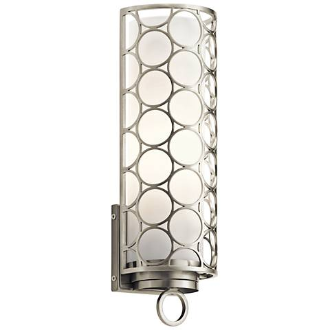 "Kichler Melrose 15"" High Brushed Nickel Wall Sconce"
