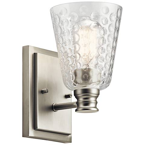 "Kichler Nadine 9 1/4"" High Brushed Nickel Wall Sconce"