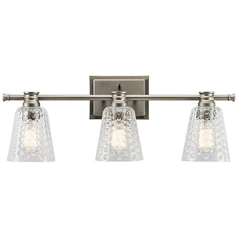 "Kichler Nadine 25"" Wide Brushed Nickel 3-Light Bath Light"