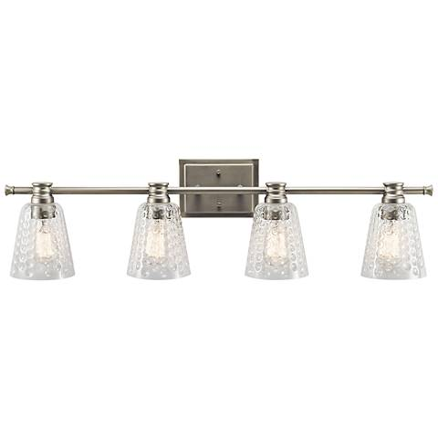 "Kichler Nadine 34 1/2""W Brushed Nickel 4-Light Bath Light"