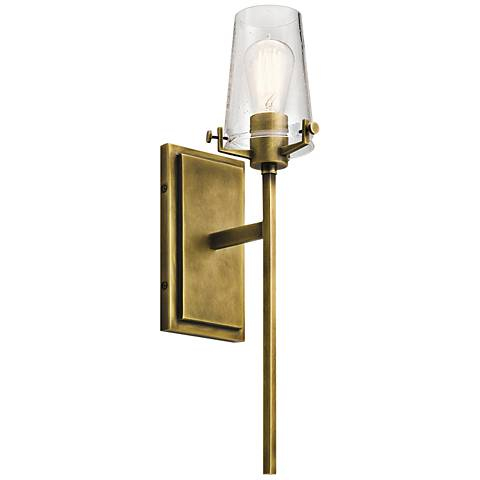 "Kichler Alton 22"" High Natural Brass Wall Sconce"