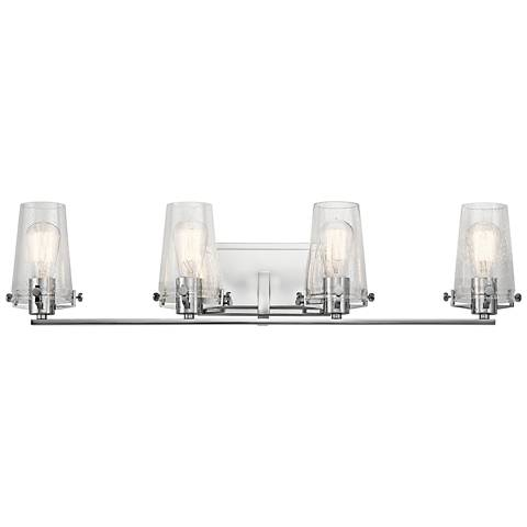 "Kichler Alton 33 3/4"" Wide Chrome 4-Light Bath Light"