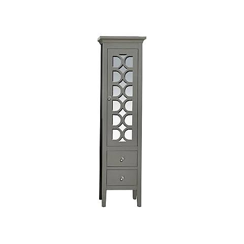 Mediterraneo Gray Wood 1-Door Side Cabinet