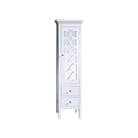 Mediterraneo White Wood 1-Door Side Cabinet