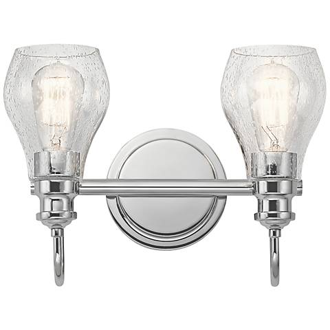 "Kichler Greenbrier 10 1/4"" High Chrome 2-Light Wall Sconce"