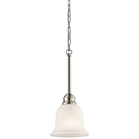 "Kichler Tanglewood 6 1/4""W LED Brushed Nickel Mini Pendant"