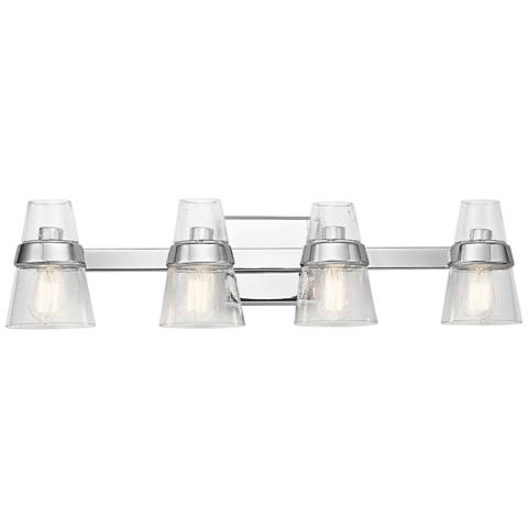 "Kichler Reese 33 1/4"" Wide Chrome 4-Light Bath Light"