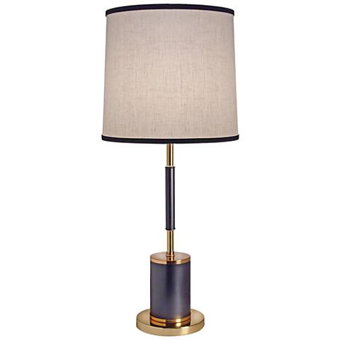 Stiffel Niall Matte Black and Polished Gold Metal Table Lamp