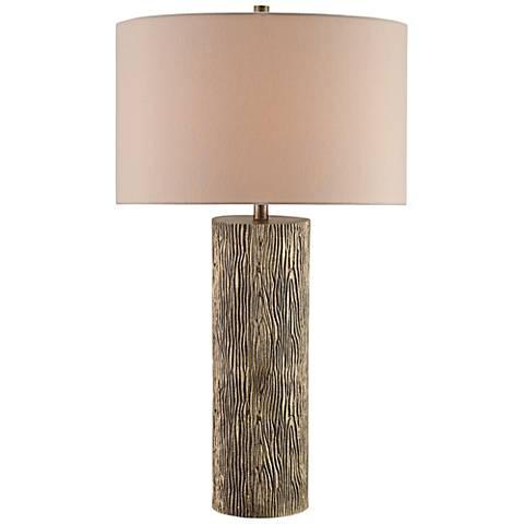 Currey and Company Landseer Natural Woodgrain Table Lamp