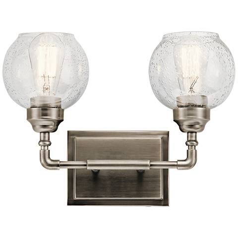 """Kichler Niles 10 3/4""""H Antique Pewter 2-Light Wall Sconce"""