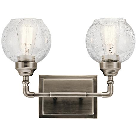 Antique Pewter Wall Sconces : Kichler Niles 10 3/4