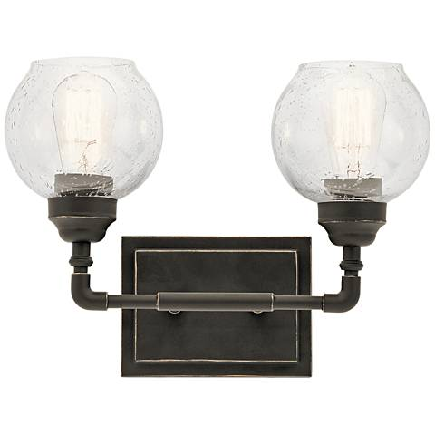 "Kichler Niles 10 3/4"" High Olde Bronze 2-Light Wall Sconce"