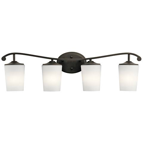 "Kichler Versailles 31 1/2""W Olde Bronze 4-Light Bath Light"