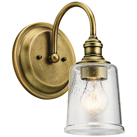 """Kichler Waverly 11 1/2"""" High Natural Brass Wall Sconce"""