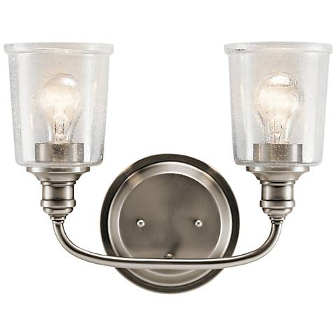 "Kichler Waverly 10 1/4""H Classic Pewter 2-Light Wall Sconce"
