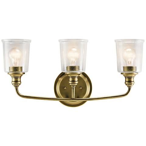 "Kichler Waverly 24"" Wide Natural Brass 3-Light Bath Light"