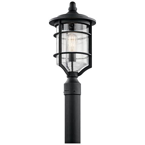"Kichler Royal Marine 19"" High Black Outdoor Post Light"