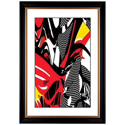 """Giclee Swirl Center 41 3/8"""" High Wall Art"""