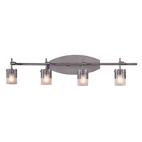 Brushed Nickel Adjustable Four Light Bathroom Fixture