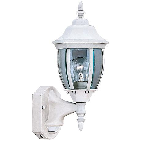 "Tiverton 16 1 4""H White Dusk to Dawn Outdoor Wall Light"