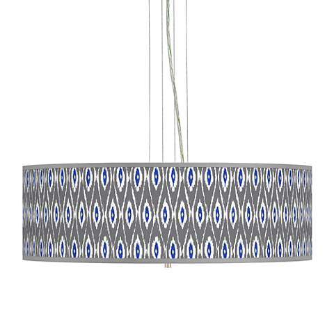 "American Ikat Giclee 24"" Wide 4-Light Pendant Chandelier"