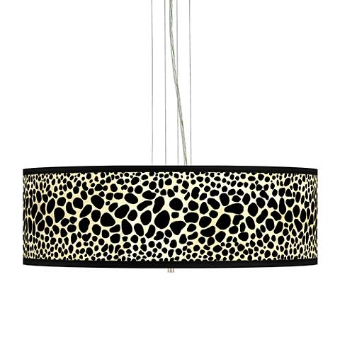 "Leopard Giclee 24"" Wide 4-Light Pendant Chandelier"