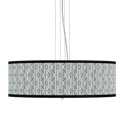 "Indigenous Giclee 24"" Wide 4-Light Pendant Chandelier"