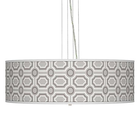 Luxe Tile Giclee 24 Wide Four Light Pendant Chandelier