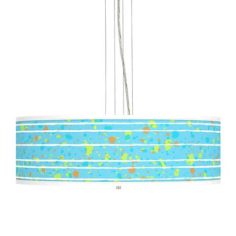 "Paint Drips Giclee 24"" Wide 4-Light Pendant Chandelier"