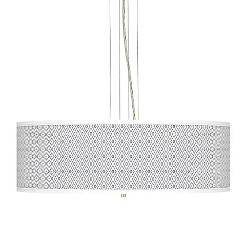 "Diamonds Giclee 24"" Wide Four Light Pendant Chandelier"