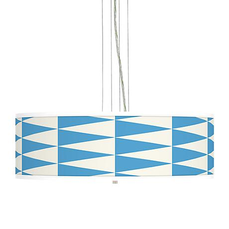 "Coastal Pennant Giclee 24"" Wide 4-Light Pendant Chandelier"