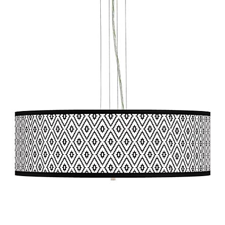 "Black Diamonds Giclee 24"" Wide 4-Light Pendant Chandelier"